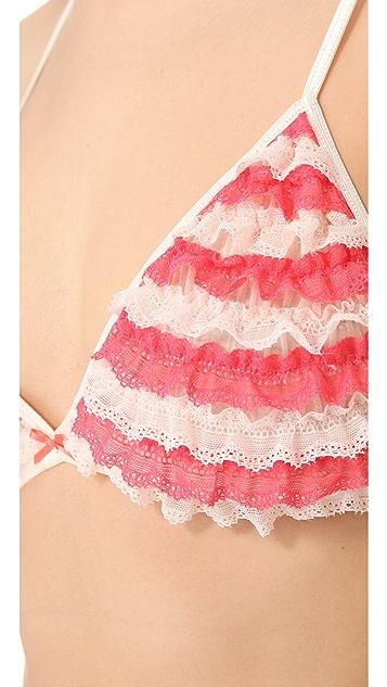 Honeydew Intimates Lace Ruffle Bralette