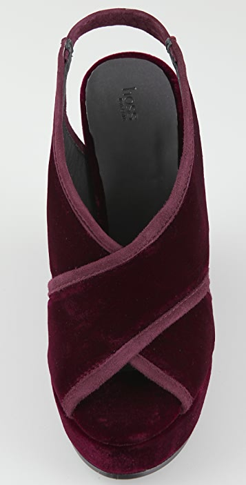 HOSS Velvet Wedge Sandals