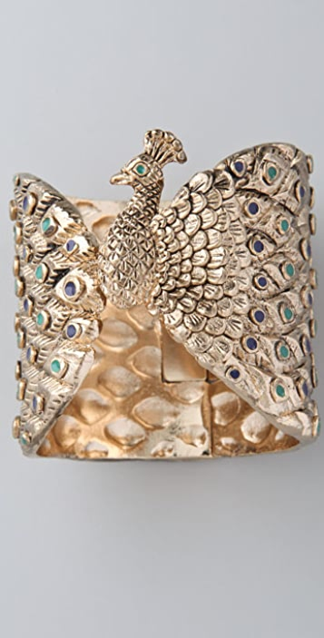 House of Harlow 1960 Peacock Cuff