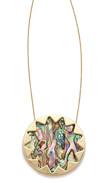House of Harlow 1960 Abalone Sunburst Necklace
