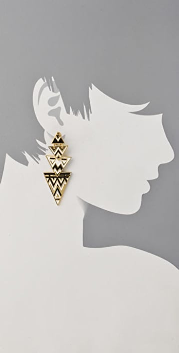 House of Harlow 1960 Tribal Drop Earrings