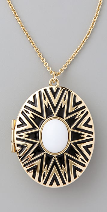House of Harlow 1960 Tribal Locket Necklace