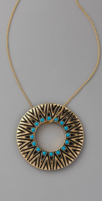 House of Harlow 1960 Circle Pendant Necklace
