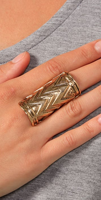 House of Harlow 1960 Tribal Wrap Ring