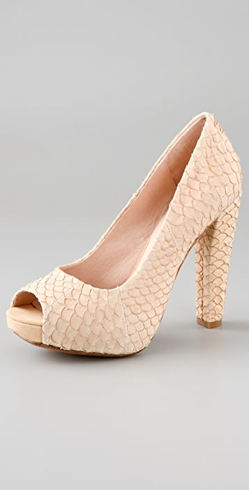 House of Harlow 1960 Pearl Open Toe Pumps