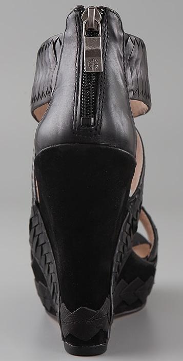 House of Harlow 1960 Veronika Woven Wedge Sandals