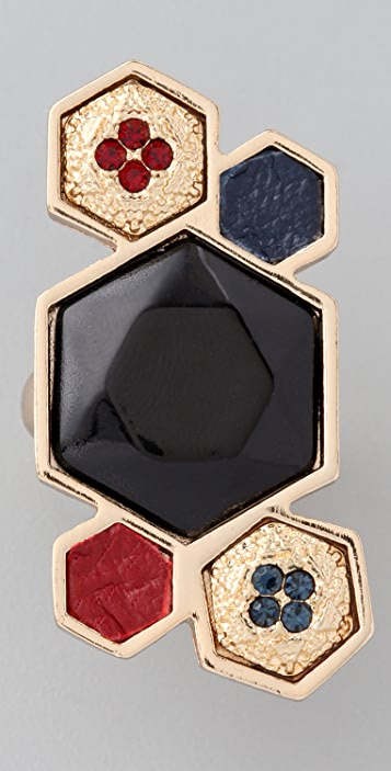 House of Harlow 1960 Mixed Media Cluster Ring