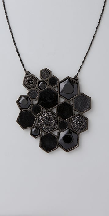 House of Harlow 1960 Mixed Media Pendant Necklace
