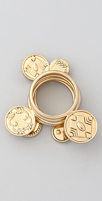 House of Harlow 1960 Coin Rings