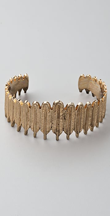 House of Harlow 1960 Large Feather Row Cuff