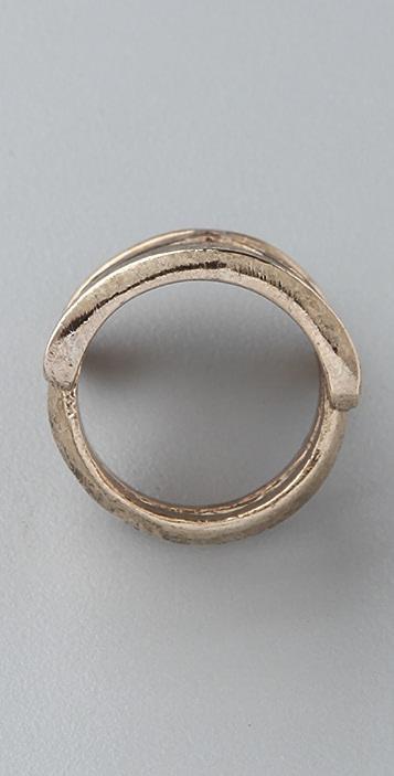 House of Harlow 1960 Chevron Ring