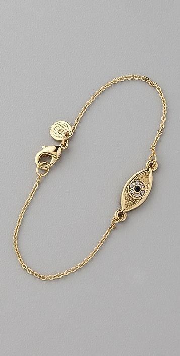 House of Harlow 1960 Evil Eye Charm Bracelet