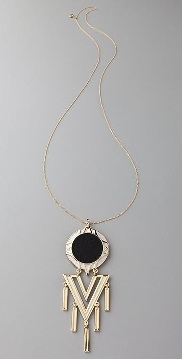 House of Harlow 1960 Tasseled Chevron Necklace