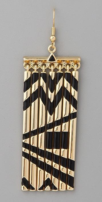 House of Harlow 1960 Metal Fringe Earrings