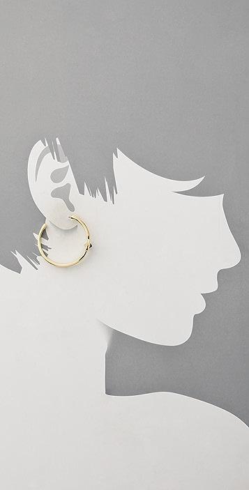 House of Harlow 1960 Black Triangle Hoop Earrings