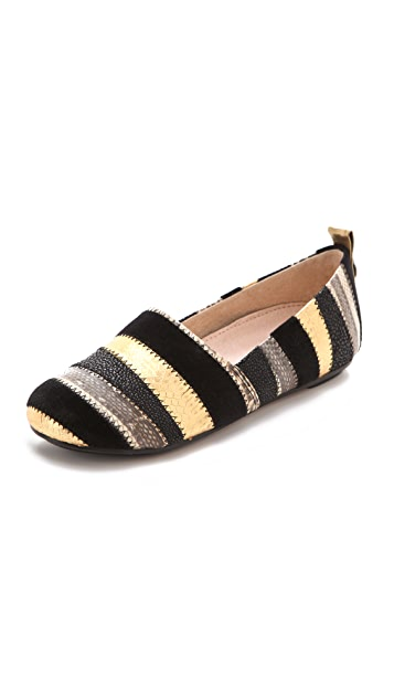 House of Harlow 1960 Kail Exotic Stripe Flats