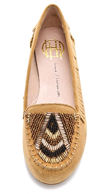 House of Harlow 1960 Millie Beaded Moccasins
