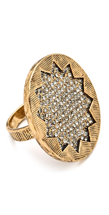 House of Harlow 1960 Medium Sunburst Pave Ring