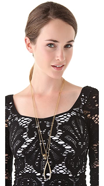 House of Harlow 1960 Wishbone Necklace