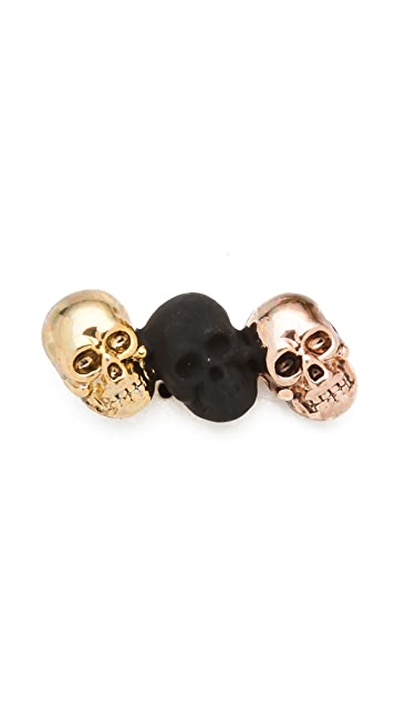 House of Harlow 1960 Triple Skull Stud Earrings