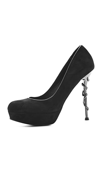 House of Harlow 1960 Stormy Metal Pumps