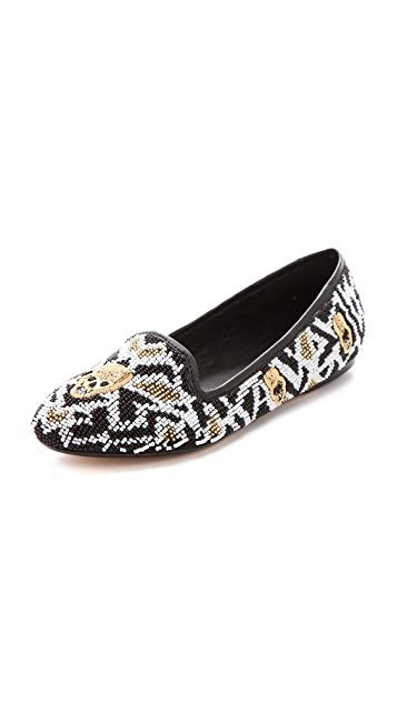 House of Harlow 1960 Zenith Beaded Flats