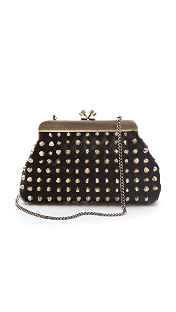House of Harlow 1960 Tilly Haircalf Clutch