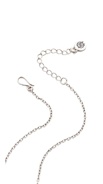 House of Harlow 1960 Pave Wishbone Necklace