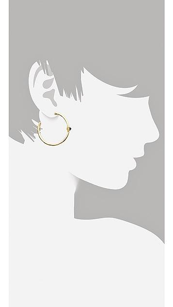 House of Harlow 1960 Navy Triangle Hoop Earrings