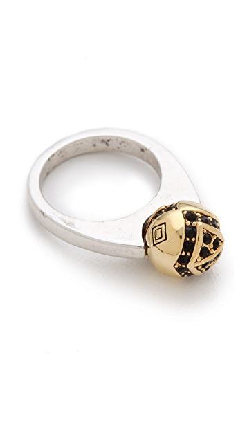 House of Harlow 1960 Engraved Orb Ring