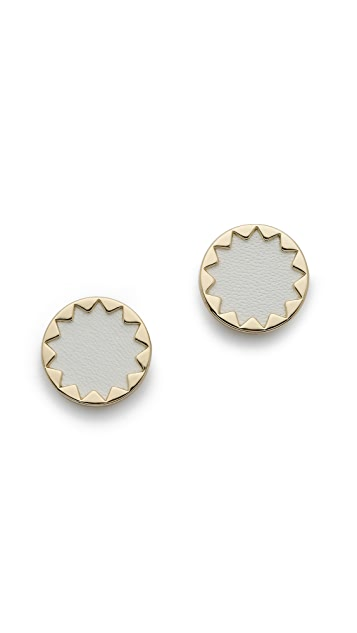 House of Harlow 1960 White Sand Sunburst Stud Earrings