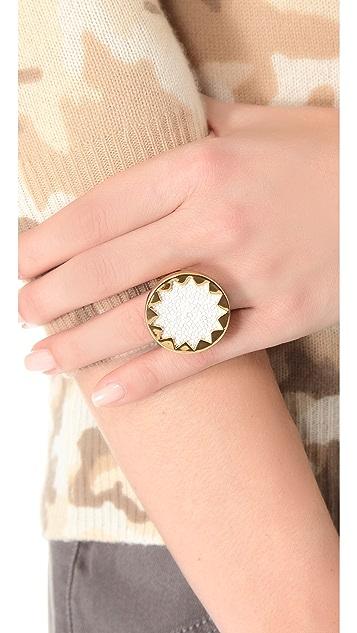 House of Harlow 1960 White Sand Medium Sunburst Ring