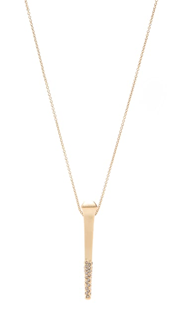 House of Harlow 1960 Horsemans Dipped Pendant Necklace