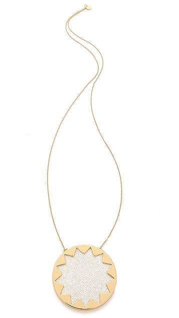 House of Harlow 1960 White Sand Sunburst Necklace