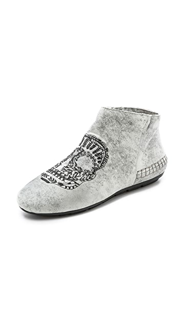 House of Harlow 1960 Mara Skull Slipper Booties
