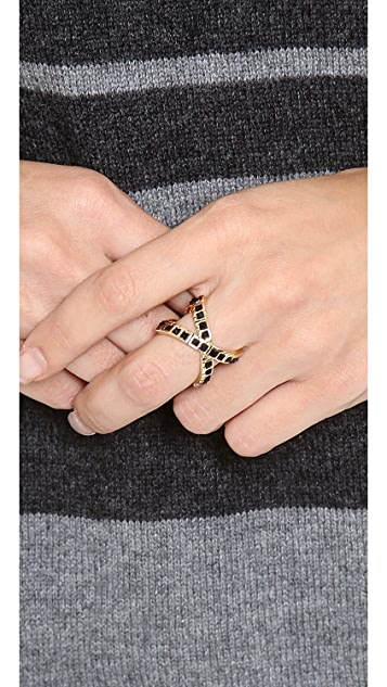 House of Harlow 1960 Keyboard Wrap Ring