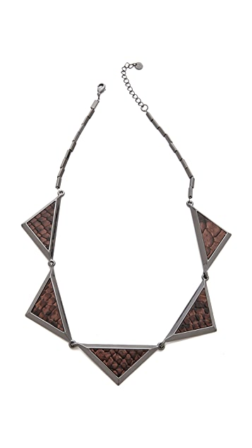 House of Harlow 1960 Triptych Collar Necklace
