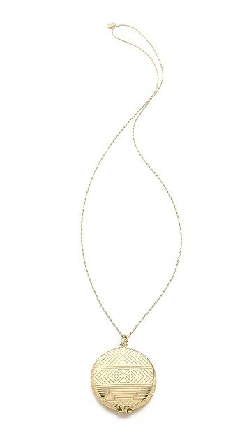House of Harlow 1960 Medallion Locket Necklace