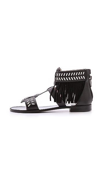 House of Harlow 1960 Gayle Fringe Sandals