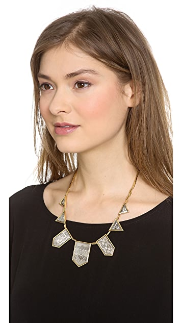 House of Harlow 1960 Engraved Classic Station Necklace