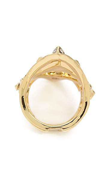 House of Harlow 1960 Pave Jaws Finger Ring