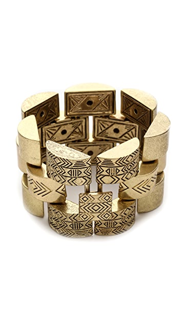 House of Harlow 1960 Warrior Tiles Link Bracelet