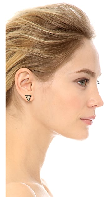 House of Harlow 1960 Triangle Stud Earrings