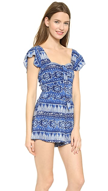 House of Harlow 1960 Fernando Bow Front Romper