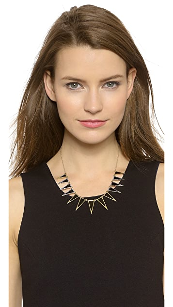 House of Harlow 1960 Enameled Echelon Collar Necklace