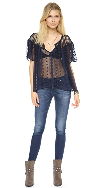 House of Harlow 1960 Stevie Blouse