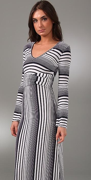 MONROW Variegated Stripe Long Dress