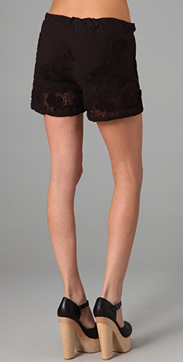 MONROW Crochet Mini Shorts