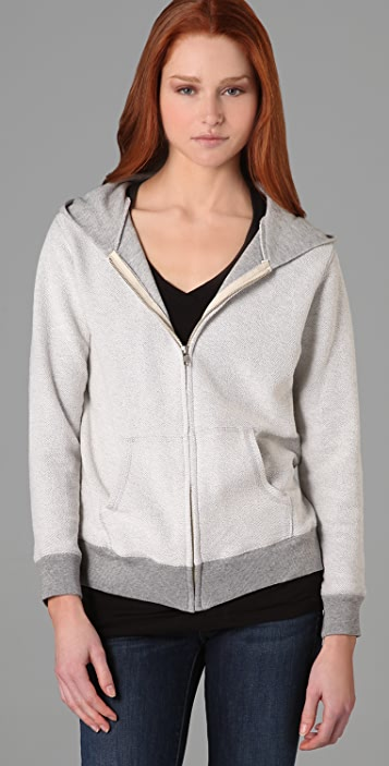 MONROW Inside Out Zip Up Hoodie