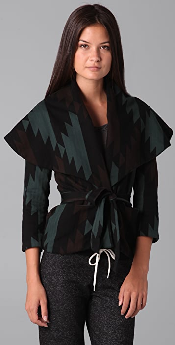 MONROW Southwest Shawl Collar Jacket